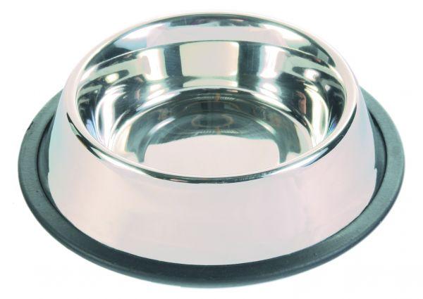 Edelstahlnapf mit Gummiring, 0,45 l/ø 14 cm