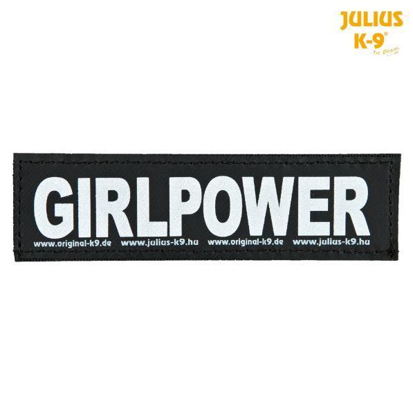 2 Julius-K9 Klettsticker L, GIRLPOWER