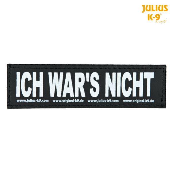 2 Julius-K9 Klettsticker L, ICH WAR'S NICHT!