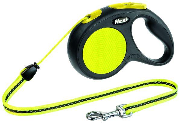 flexi New CLASSIC Neon, Seil M: 5 m, schwarz/neon