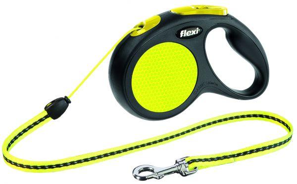flexi New CLASSIC Neon, Seil S: 5 m, schwarz/neon