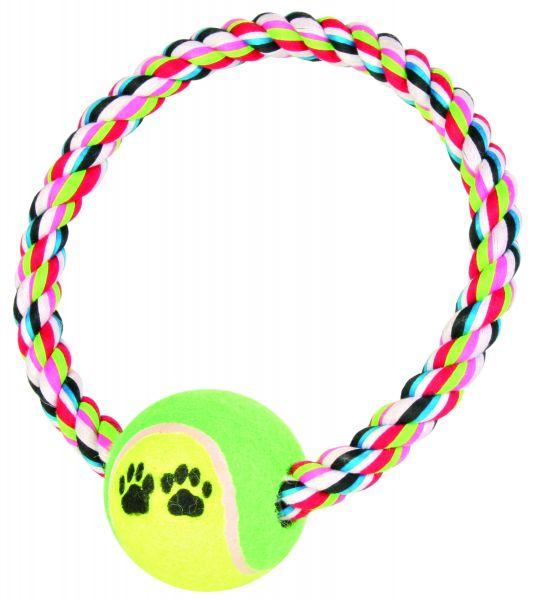 Baumwollring mit Tennisball, ø 18 cm/ø 6 cm