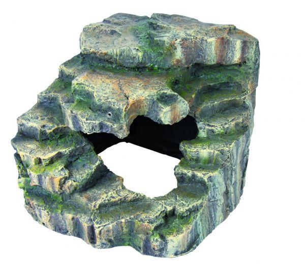 Eck-Fels mit Höhle und Plattform, 19 × 17 × 17 cm
