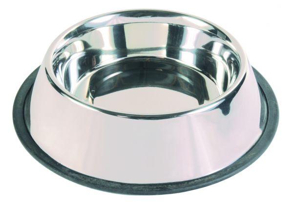 Edelstahlnapf mit Gummiring, 2,8 l/ø 24 cm