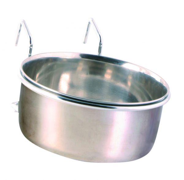 Edelstahlnapf mit Halter, 0,6 l/ø 12 cm