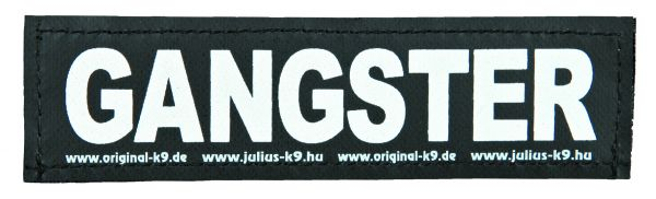 2 Julius-K9 Klettsticker S, GANGSTER