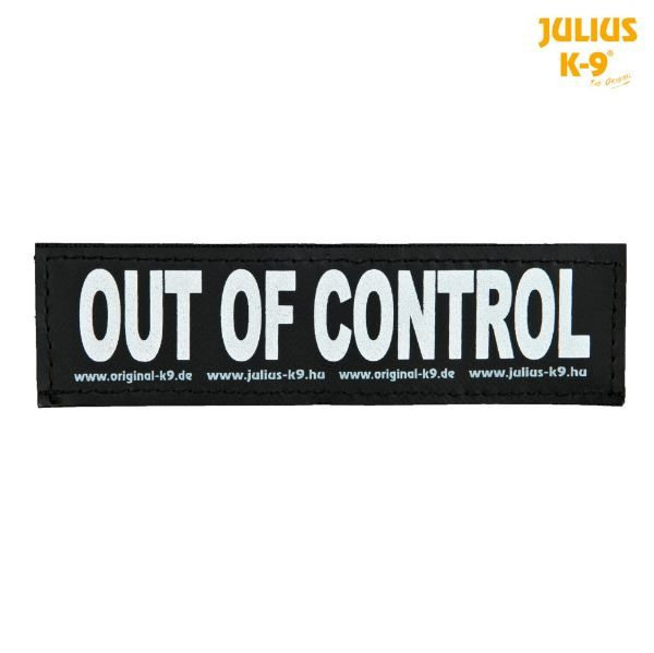 2 Julius-K9 Klettsticker L, OUT OF CONTROL