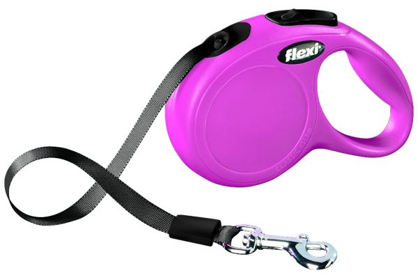 flexi New CLASSIC, Gurt XS: 3 m, pink