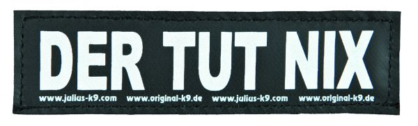 2 Julius-K9 Klettsticker S, DER TUT NIX