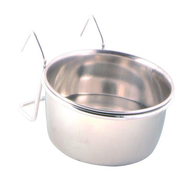 Edelstahlnapf mit Halter, 0,15 l/ø 7 cm