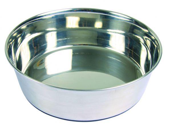 Edelstahlnapf, Gummiboden, 2,5 l/ø 24 cm
