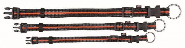 Fusion Halsband S-M: 30-45 cm/17 mm, schwarz/orange