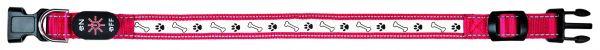 Flash Leuchthalsband USB L-XL: 50-60 cm/25 mm, rot