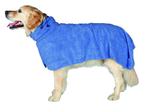 Bademantel für Hunde Mikrofaser, L, 60 cm