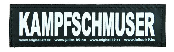 2 Julius-K9 Klettsticker S, KAMPFSCHMUSER