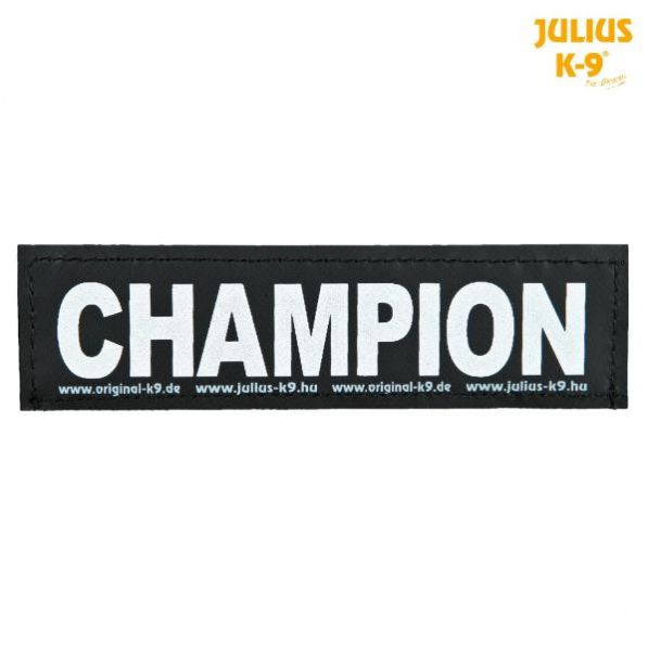 2 Julius-K9 Klettsticker L, CHAMPION