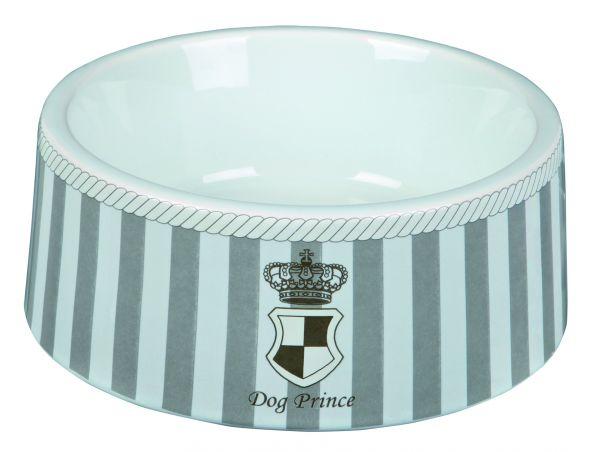 Dog Prince Keramiknapf 1 l/ø 20 cm, grau/weiß