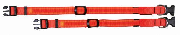 Flash Halsband M-L: 40-55 cm/25 mm, signalorange