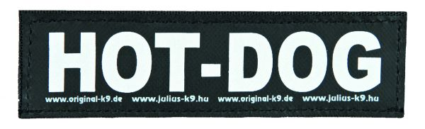 2 Julius-K9 Klettsticker S, HOT DOG