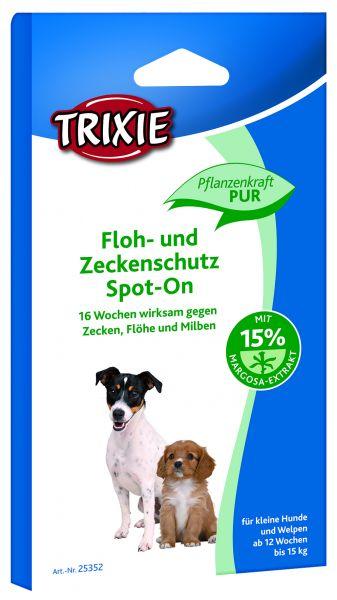 Floh- und Zeckenschutz Spot-On, kleine Hunde, 4 × 1,5 ml