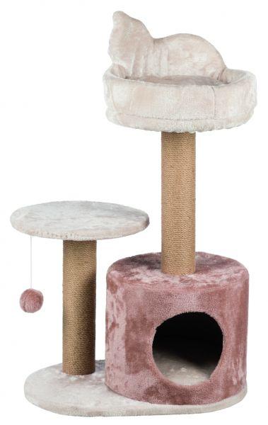 Kratzbaum Gianni mit Katzensilhouette 80 cm, helltaupe/cappucino