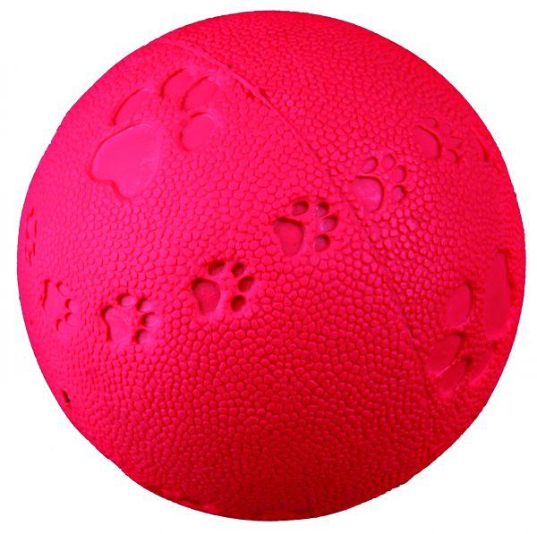 Ball, Naturgummi, mit Quietscher, ø 7 cm