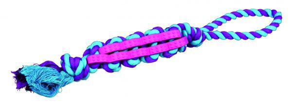 Denta Fun Twisted Stick am Tau, Naturgummi 4 cm/48 cm