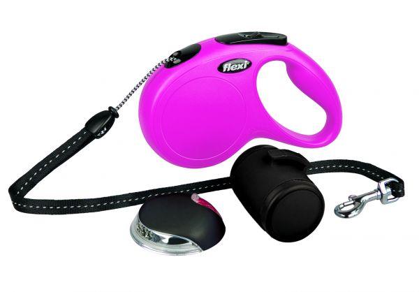 flexi New CLASSIC-Set M: 5 m, pink