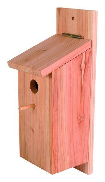 Bausatz Meisenkasten, Holz, 12×26×12 cm