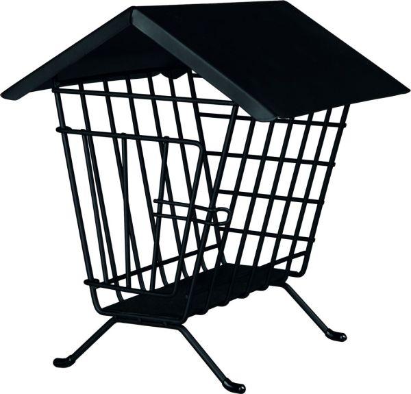 Heuraufe zum Aufstellen mit Dach 20 × 23 × 20 cm, schwarz