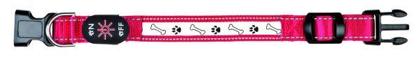 Flash Leuchthalsband USB S-M: 30-40 cm/25 mm, rot