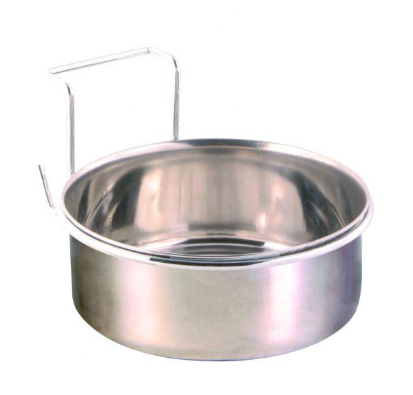 Edelstahlnapf mit Halter, 0,9 l/ø 14 cm