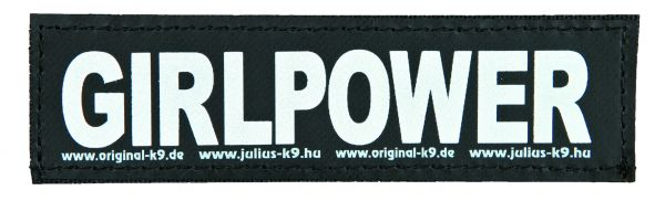 2 Julius-K9 Klettsticker S, GIRLPOWER
