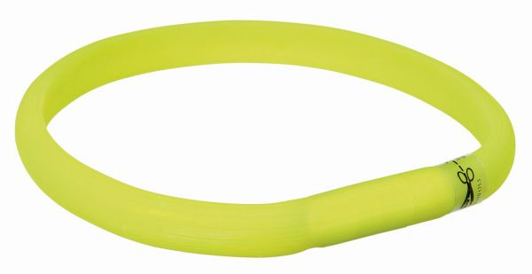 Flash Leuchtband USB XS-S: 35 cm/17 mm, grün