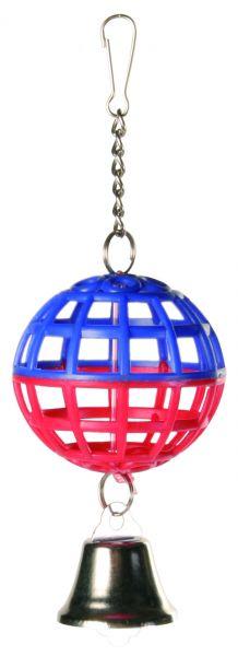 Gitterball mit Kette und Glocke, ø 4,5 cm