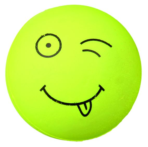 4 Smiley Bälle, Moosgummi ø 6 cm