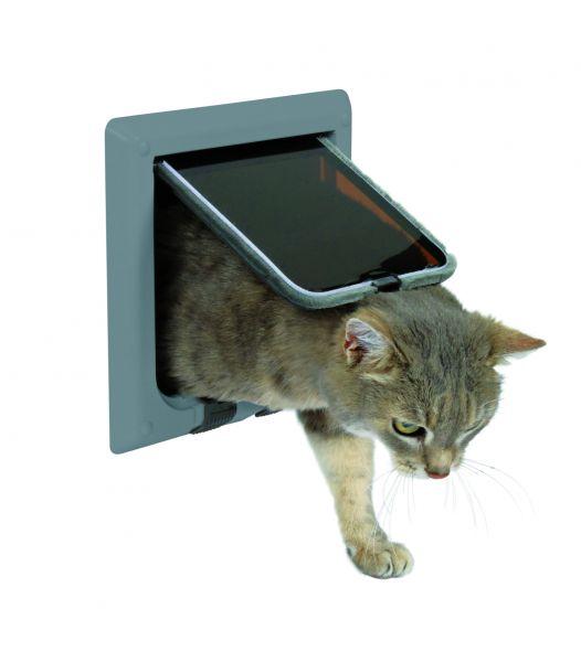 FreeCat Katzentür, 4 Funktionen, grau
