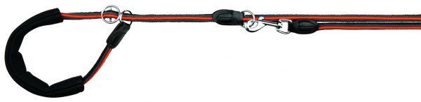 Fusion Retrieverleine, M-XL: 1,90 m/ø 13 mm, schwarz/orange