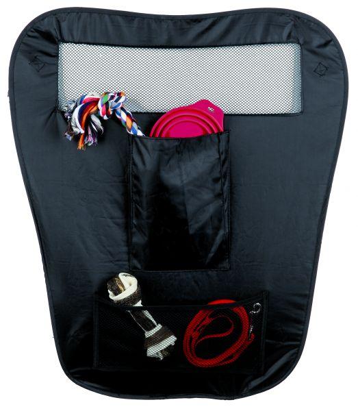 Auto-Sicherheitsabtrennung, faltbar, Nylon, 60/44 × 69 cm, schwarz