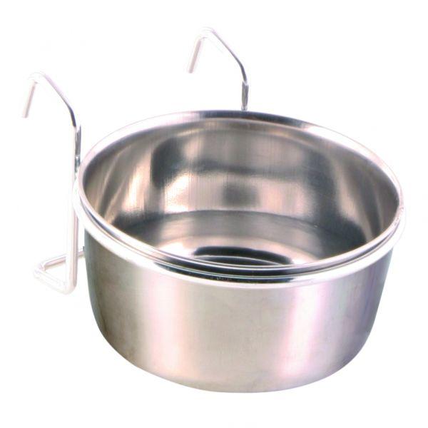 Edelstahlnapf mit Halter, 0,3 l/ø 9 cm