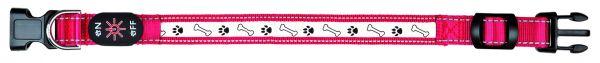 Flash Leuchthalsband USB M-L: 40-50 cm/25 mm, rot