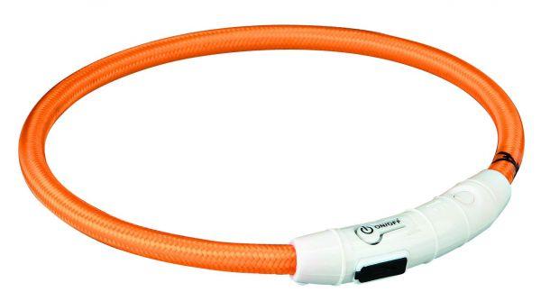 Flash Leuchtring USB L-XL: 65 cm/ø 7 mm, orange