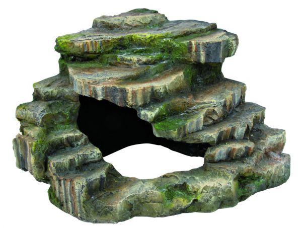 Eck-Fels mit Höhle und Plattform, 26 × 20 × 26 cm