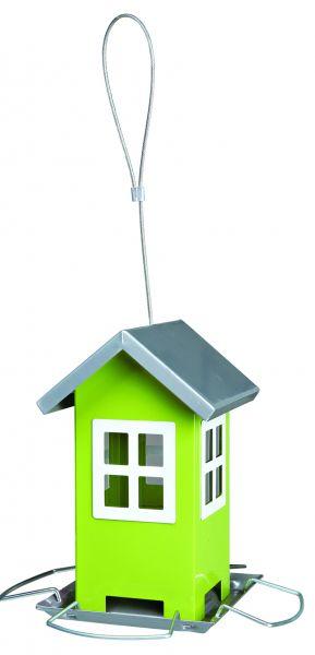 Futterhaus, 19 × 20 × 19 cm, grün/silber