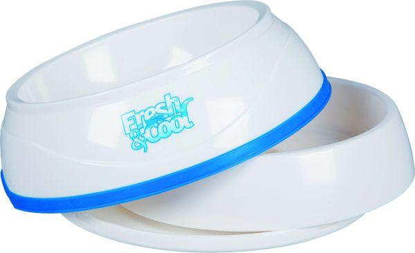 Fresh & Cool Kühlnapf 1 l/ø 20 cm, weiß/blau