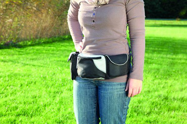 Baggy Belt Hüftgurt, grau/schwarz, 62-125 cm