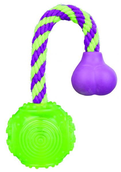 Ball am Seil, thermoplastisches Gummi (TPR) ø 5,5 cm/23 cm