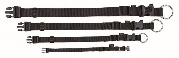 Classic Halsband S-M: 30-45 cm/15 mm, schwarz