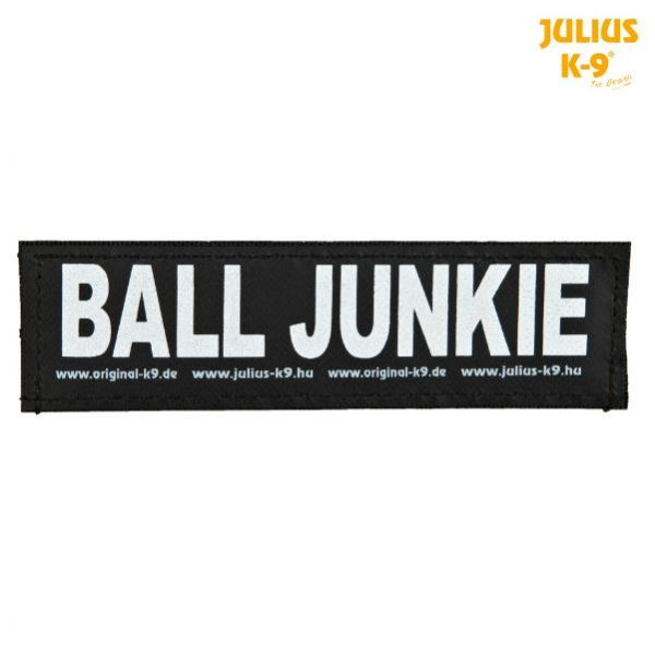 2 Julius-K9 Klettsticker L, BALL JUNKIE