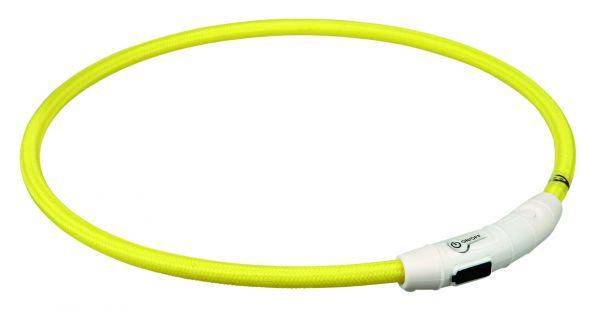 Flash Leuchtring USB L-XL: 65 cm/ø 7 mm, gelb